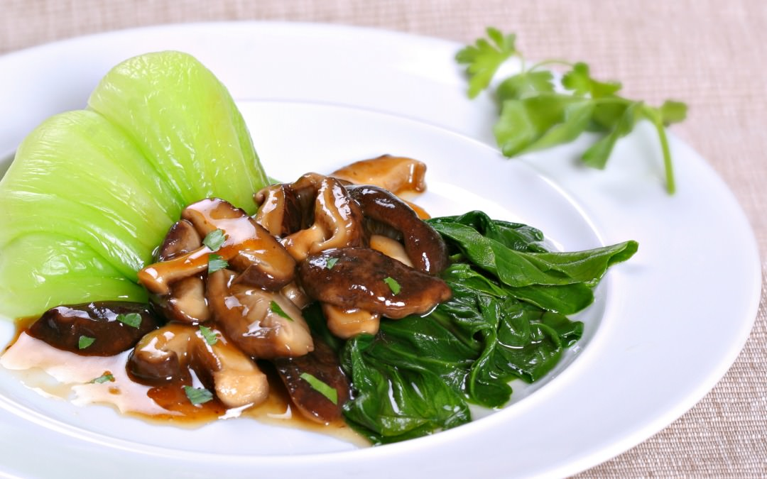 Baby Bok Choy and Shiitakes