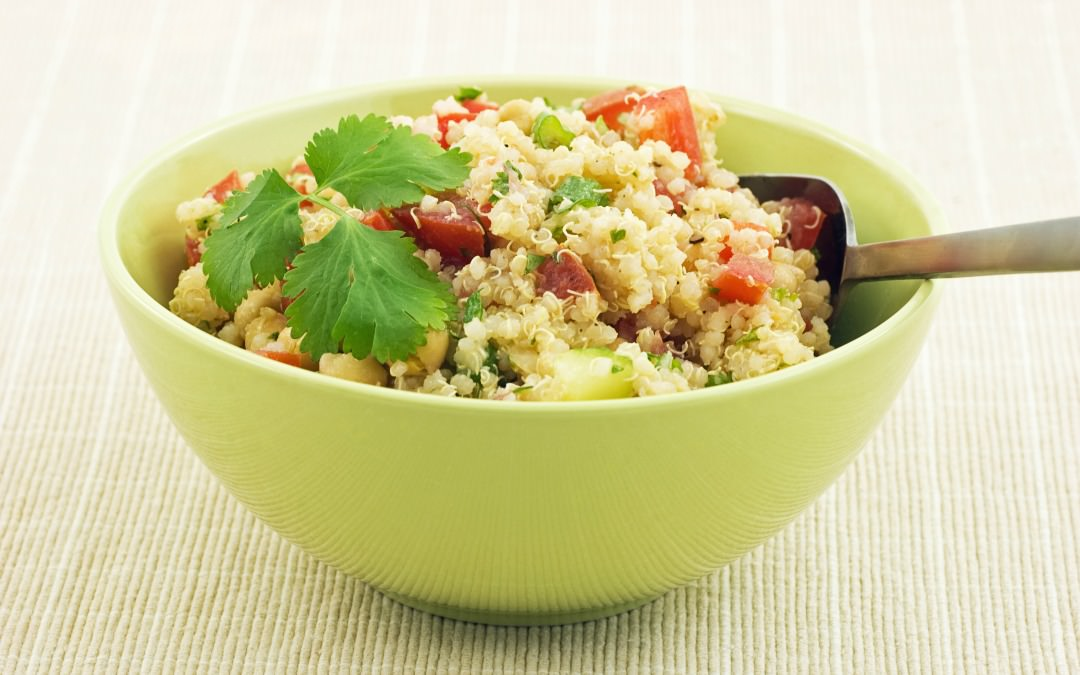 quinoa salad with mint and lime