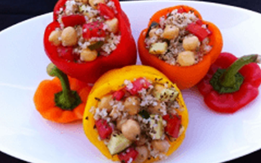 how to cook stuffed peppers with couscous
